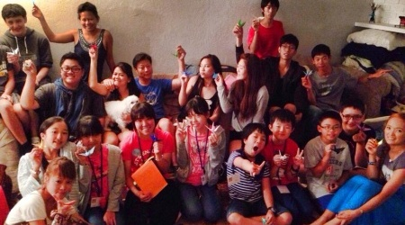 Our Family Picture(with our origami cranes) 8/10/2014